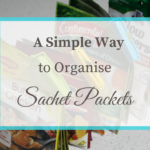 A Simple Way to Organise Sachet Packets