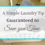 A Simple Laundry Tip Guaranteed to Save you Time